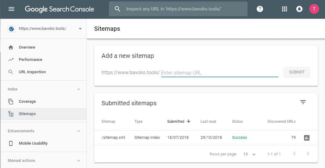 Create and submit a WordPress Sitemap to Google with the BAVOKO SEO Tools Plugin